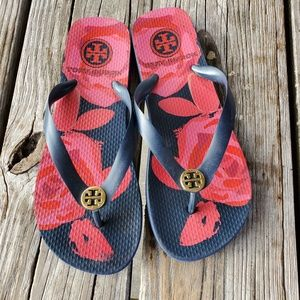 Tory Burch Floral Beach Pool Sandals 7.5